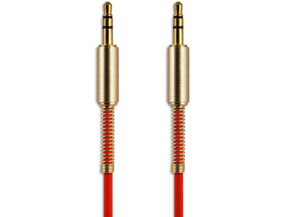 Аудиокабель Jack 3.5 mm - Jack 3.5 mm Belsis BS3017, 1 м, красный, стерео цена и фото