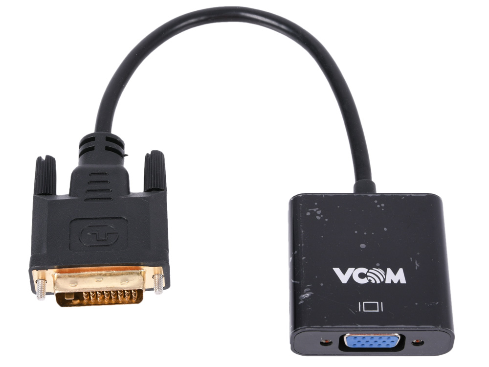 Фото - Переходник DVI - VGA VCOM CG491 переходник dvi vga greenconnect gc cv103