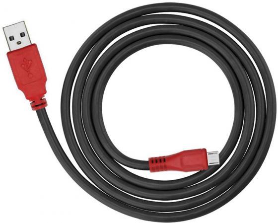 Кабель microUSB 1.5м Green Connection GCR-UA6MCB1-BB2S круглый черный красные коннекторы menschen a2 testtrainer mit cd