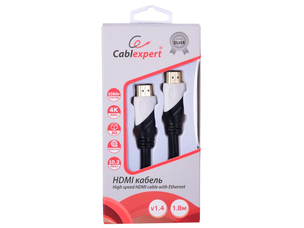 Фото - Кабель HDMI Cablexpert, серия Silver, длина 1,8 м, v1.4, M/M, позол.разъемы, коробка кабель