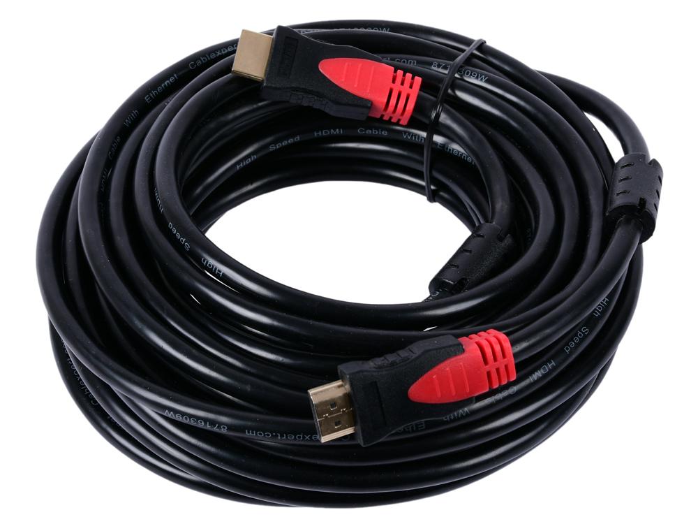 Кабель HDMI Cablexpert, серия Silver, длина 10 м, v1.4, M/M, позол.разъемы, феррит. кольца, коробка кабель gembird hdmi cablexpert silver длина 1 м