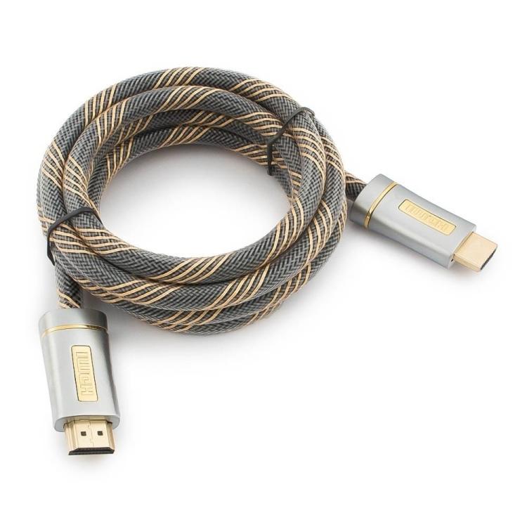 Кабель HDMI Cablexpert CC-P-HDMI02 серия Platinum, 1,8 м, v2.0, M/M, позол.разъемы, металлический корпус, нейлон цена и фото