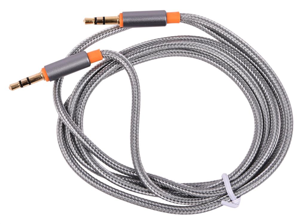 Аудио-кабель JACK01-03 Серый JACK M- JACK M, 1,2м цена