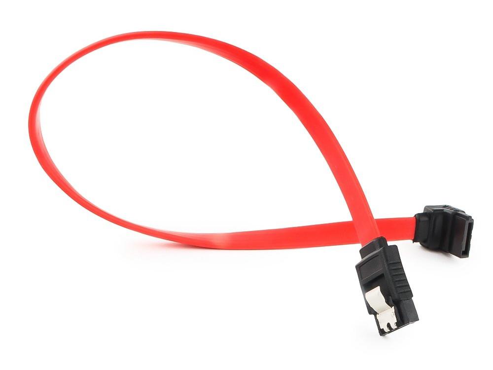 Cablexpert Кабель интерфейсный SATA, 30см, угловой разъем, 7pin/7pin, защелка (CC-SATAM-DATA90-0.3M) аксессуар кабель gembird cablexpert sata 50cm cc satam data90