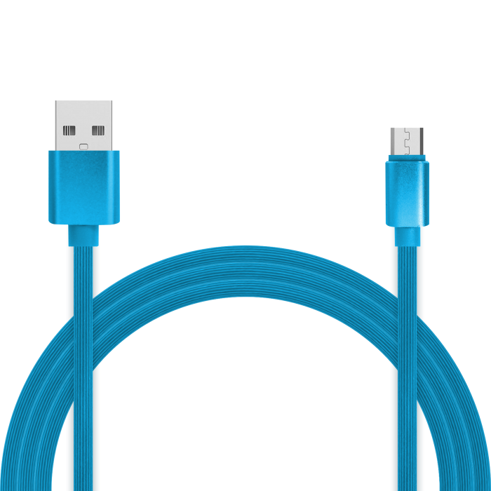 Кабель для зарядки и передачи данных Jet.A JA-DC24 1м синий (TPE, USB2.0/micro USB, QC 3.0, 2A) кабель 2 в 1 lightning и micro usb для зарядки и передачи данных i mu