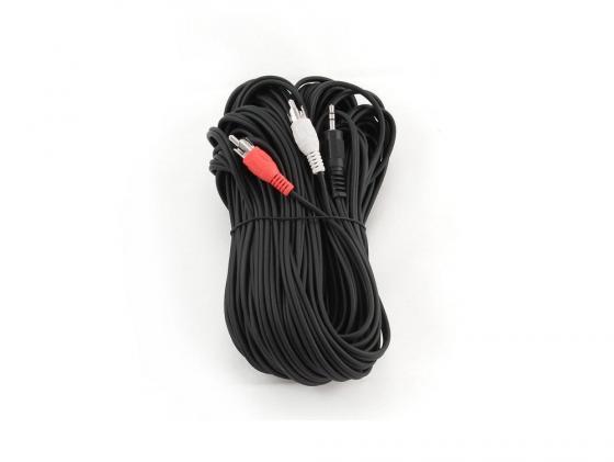 Кабель соединительный 20м Gembird 3.5 Jack (M) - 2xRCA (M) стерео аудио CCA-458-20M кабель соединительный 5м gembird 3 5 jack m 2xrca m стерео аудио cca 458 5m