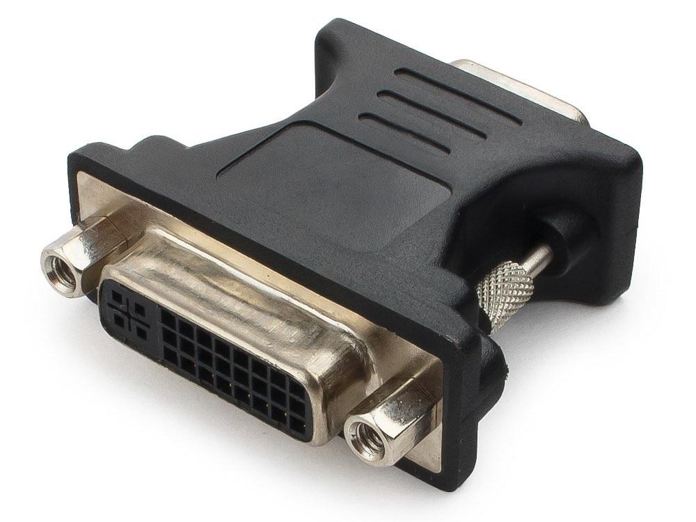 Cablexpert Переходник VGA-DVI, 15M/25F, черный, пакет (A-VGAM-DVIF-01) ботинки для девочки tiflani цвет черный 25f 801s 233 размер 34