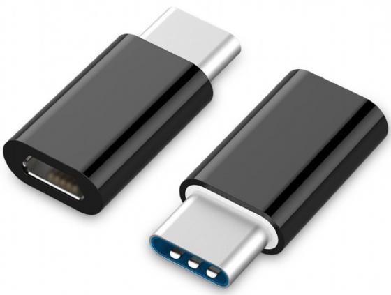 Адаптер microUSB Type-C Cablexpert A-USB2-CMmF-01 черный
