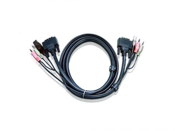 Кабель ATEN 2L-7D03U DVI/USBA/SP.MC-DVI/USB B 3м кабель dvi dvi 3 0м polycom 2457 23793 001
