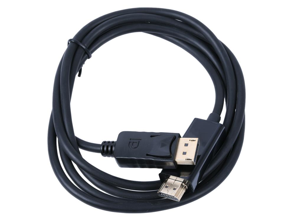 Кабель Orient C706 DisplayPort M - HDMI M, 1.8 метра, черный ce link mini dp to hdmi кабель 3 метра mini displayport to hdmi кабель macbook подключенный к проектору с поддержкой тв высокой четкости 4 2k черный a1584