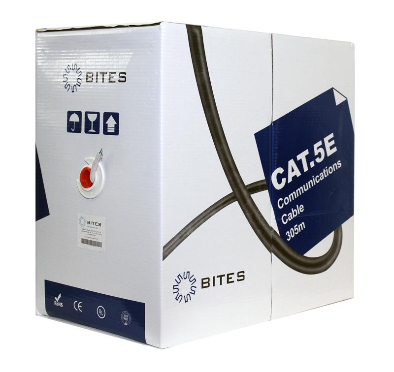 Кабель 5bites US5505-305A, UTP, 4 пары, одножильный (solid),5e кат, (0,50 mm), CCA, бухта 305m цена и фото