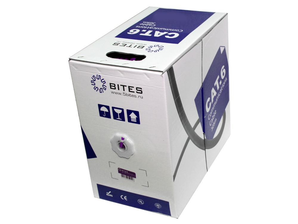 Кабель 5bites US6575-305A-BL, UTP, 4 пары, одножильный (solid), кат. 6e, (0,574 mm), CCA, PVC, 305m, синий кабель акустический в нарезку supra rondo bi wire 4 x 4 mm