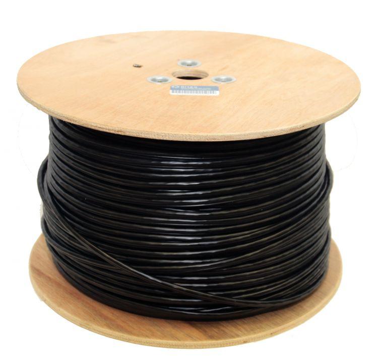 Кабель 5bites US5505-305CPE-M, UTP, 4 пары, одножильный (solid), кат. 5e, (0,50 mm), CU, PVC+PE, 305m, с тросом, для внешней прокладки, на деревянной катушке, кабель telecom cu utp 4 пары кат 5e