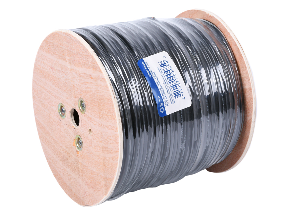 Фото - Кабель 5bites FS5505-305CPE, FTP, 4 пары, одножильный (solid), кат. 5e, (0,50 mm), CU, PVC+PE, 305m, для внешней прокладки, на деревянной катушке кисть круглая кабуки для шлифовки и полировки сухих и жирных текстур енот d 22 5e