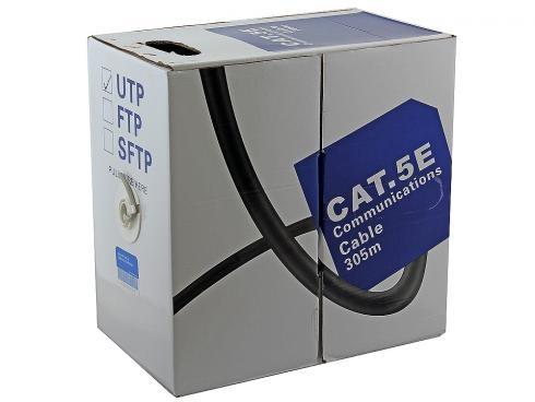 Кабель 5bites LIGHT US5400-305S, UTP, одножильный (solid), 4 пары, кат. 5e, (0,40 mm), CCA+CCS, 305m кабель акустический в нарезку supra rondo bi wire 4 x 4 mm
