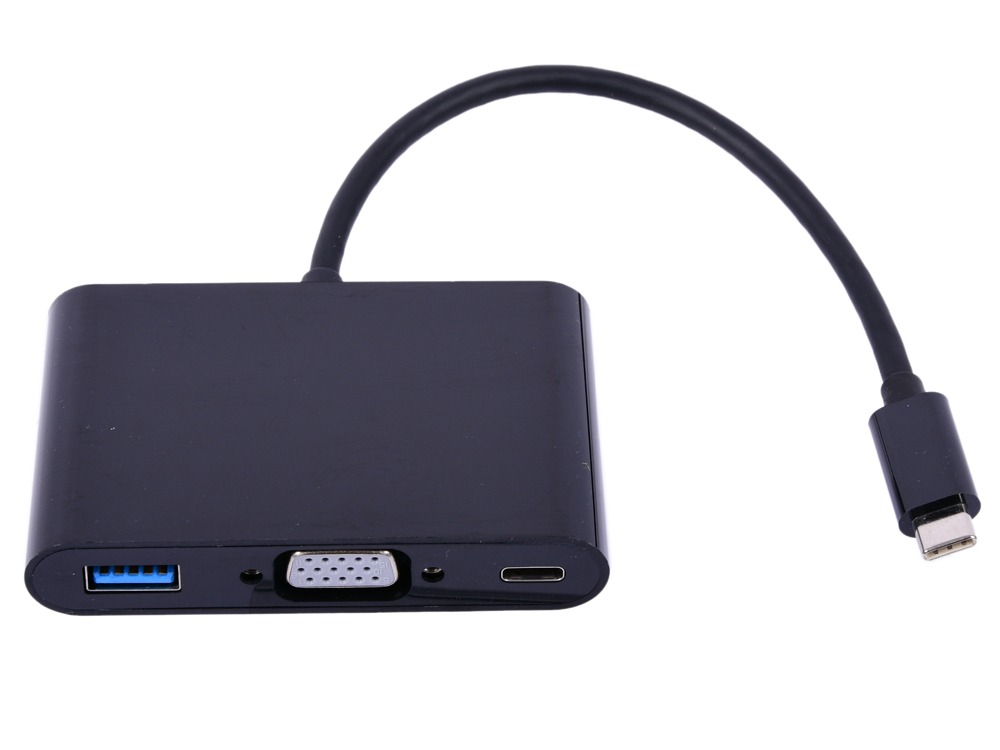 Cablexpert Переходник USB Type-C/VGA + USB3 + подзарядка USB-C, 15см