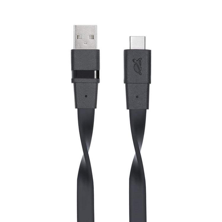 купить Кабель RIVACASE VA6003 BK12 Type-C 3.0 – USB 1.2м черный по цене 490 рублей