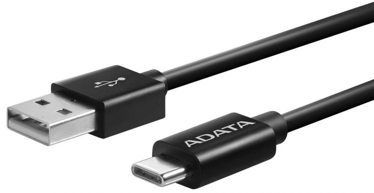 Кабель USB Type-C - USB 2.0 A-DATA ACA2AL-200CM-CBK 2 м