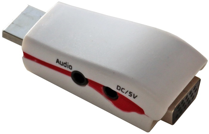 Фото - Переходник 5bites AP-022 HDMI M / VGA F / AUDIO / POWER переходник hdmi vga hp x1b84aa черный
