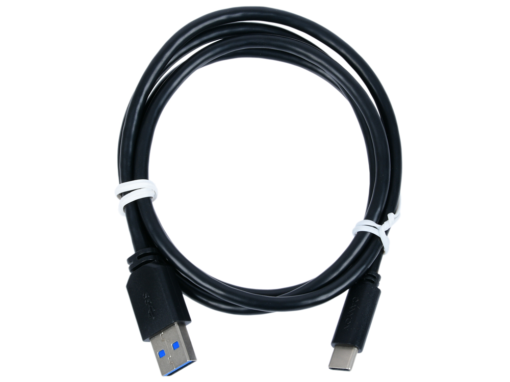 Кабель Type C/USB 3.0, 1m, black CANYON CNE-USBC4B аксессуар df usb type c 1m czebra 02 blue black page 3