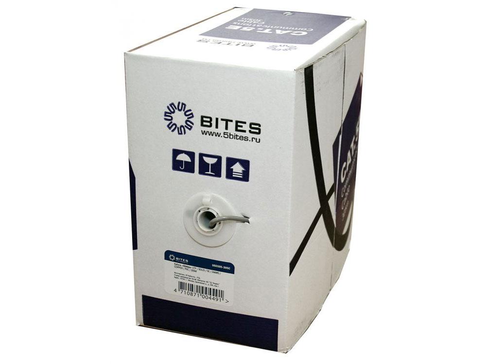 Кабель UTP indoor 4 пары категория 5e (0,50 mm), COOPER, 5bites US5505-305C одножильный (solid), PVC, 305м