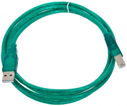 Фото - Кабель USB 2.0 AM-BM 1.8м Aopen ACU201TG-1.8MG зеленый кабель