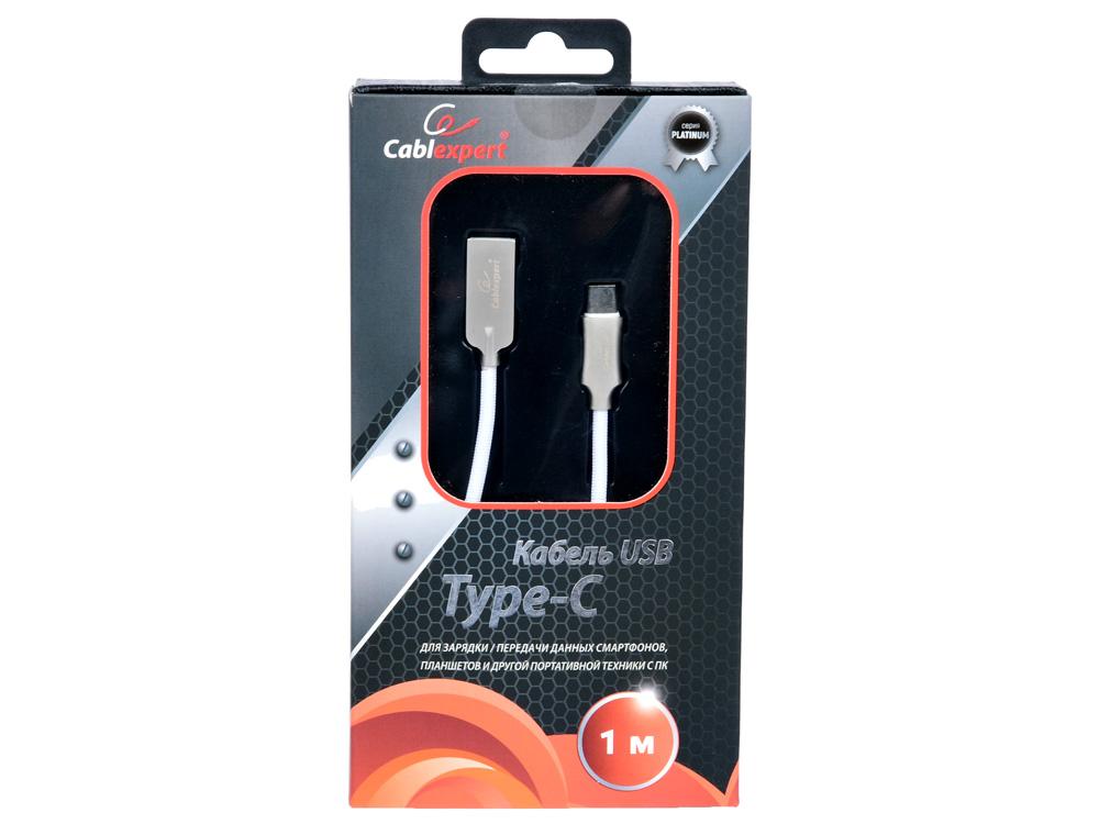Фото - Кабель USB 2.0 Cablexpert, AM/Type-C, серия Platinum, длина 1м, белый, блистер кабель usb 2 0 am microbm 1м gembird оранжевый cc musb2oe1m