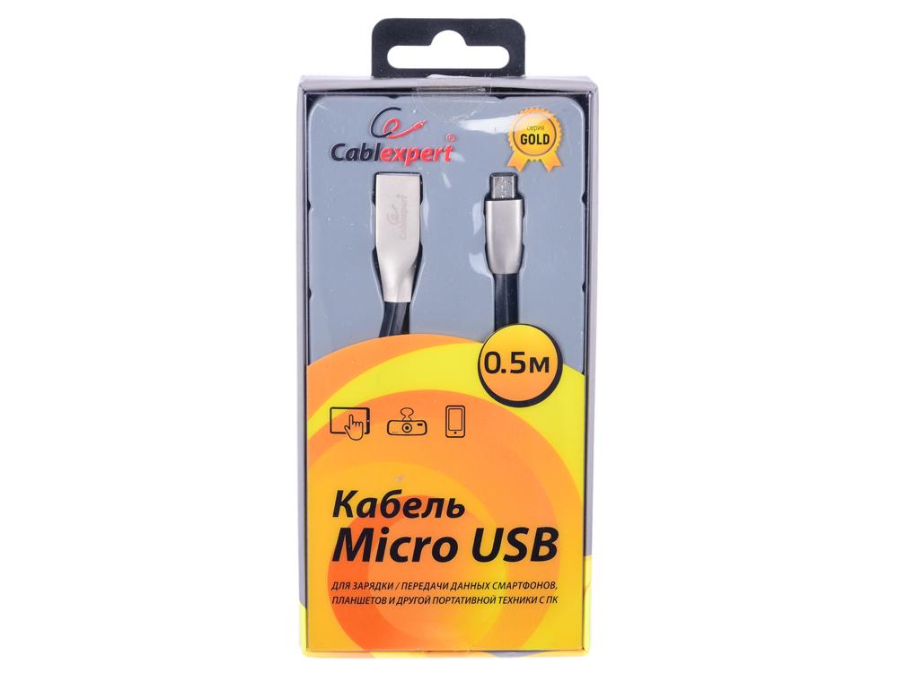 Фото - Cablexpert Кабель USB 2.0 CC-G-mUSB01Bk-0.5M AM/microB, серия Gold, длина 0.5м, черный, блистер автокресло mr sandman valencia fix черный красный amsvf 0657kres1724