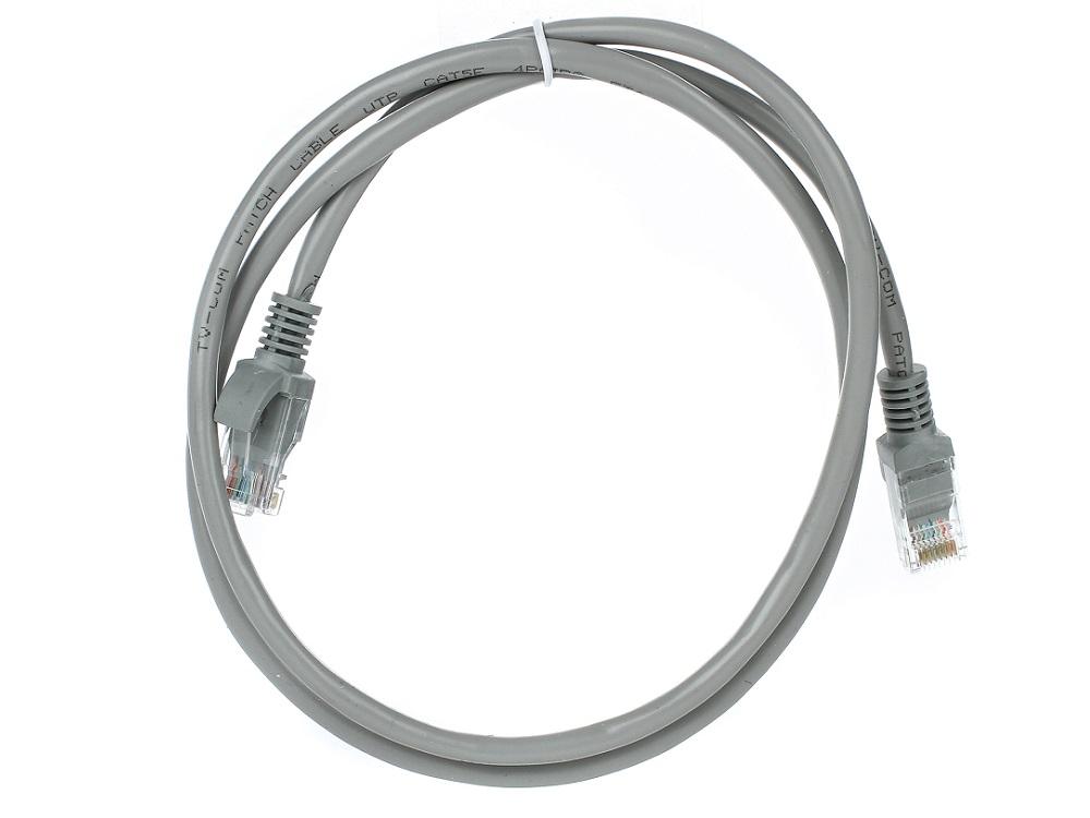 Фото - Патч-корд литой TV-COM NP511-1M многожильный UTP кат.5е 1 м серый hyperline pc lpm stp rj45 rj45 c6 1 5m lszh or патч корд f utp экранированный cat 6 lszh 1 5 м оранжевый