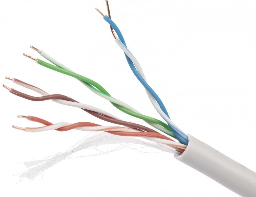 цена на Кабель Cablexpert, UTP5e, 4 пары, 0.48 мм, медь, однож., 305 м, Fluke Test, серый UPC-5004E-SO