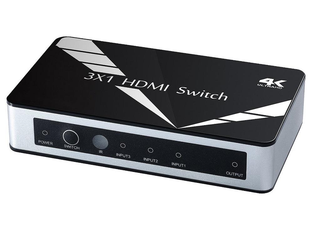 Фото - Переключатель HDMI 3 к 1 Greenconnect GL-v301A v1.4 переключатель 1 кл schneider electric unica studio белый