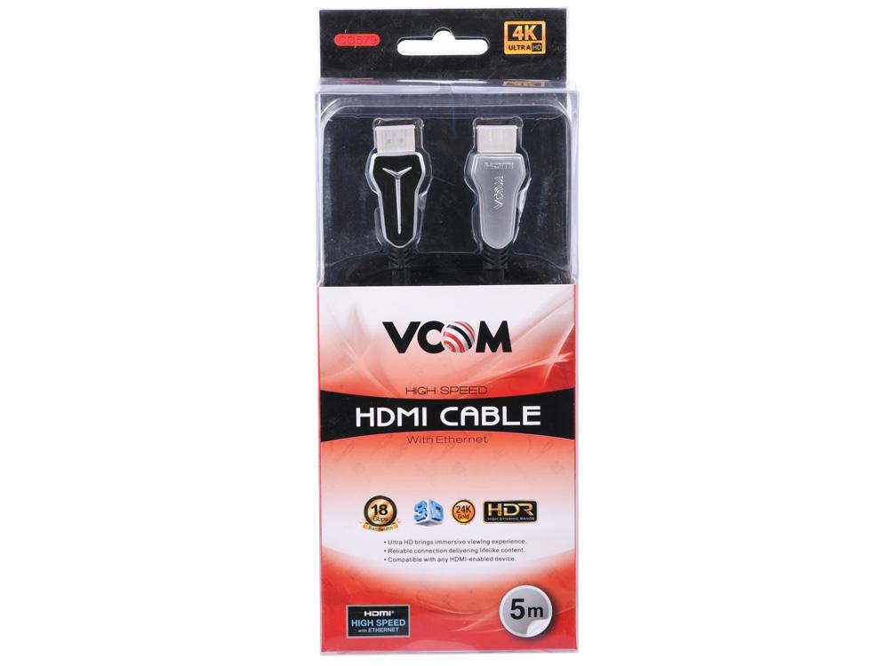 Фото - Кабель HDMI 19M/M,ver. 2.0, 5m VCOM CG579-5M аксессуар гарнизон hdmi m m v1 4 5m black gcc hdmi 5m