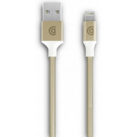 Фото - Кабель Griffin Lightning to USB Charge/Sync Cable, Braided 1m - Gold аксессуар nonda zus kevlar lightning to usb 1 2m lc33bkrn