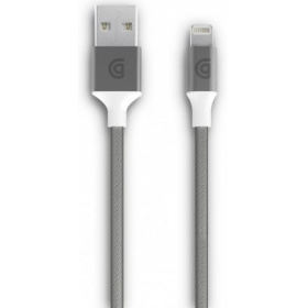 Кабель Griffin Lightning to USB Charge/Sync Cable, Braided 1m - Silver laura griffin mõeldamatu kurjus