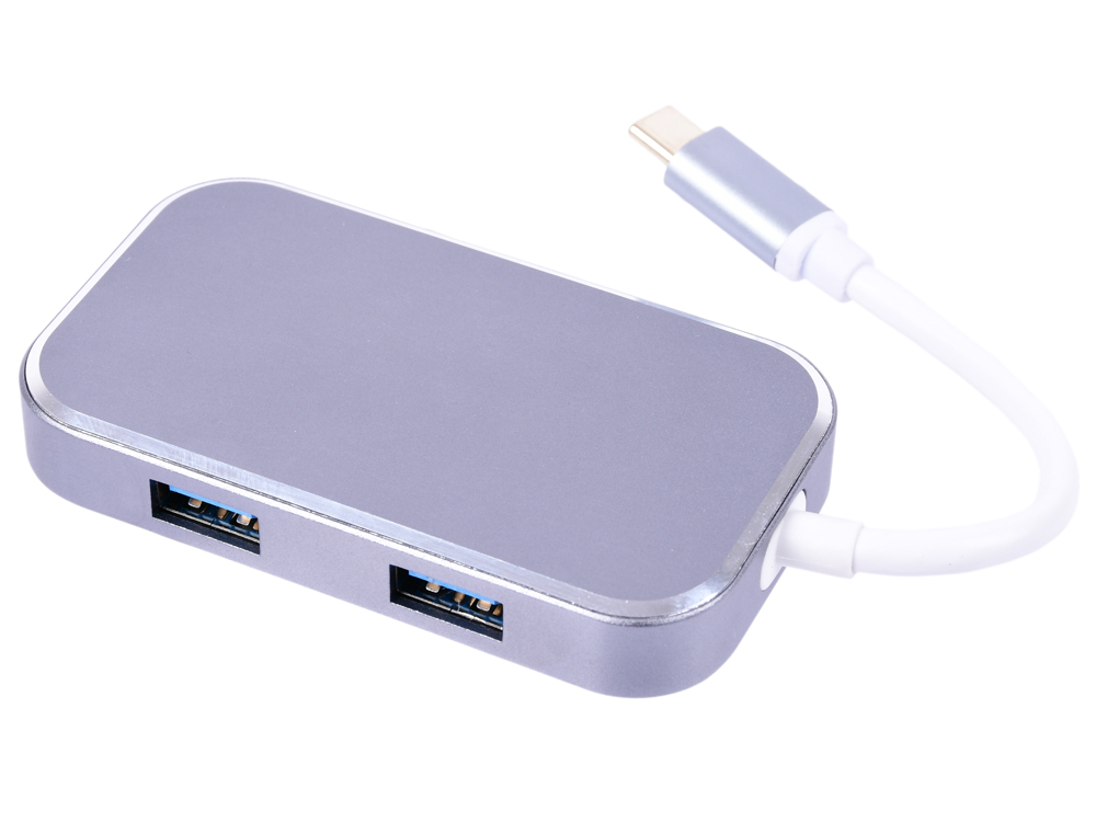 Фото - Адаптер-переходник Greenconnect GCR-CHC3USB Type C на HDMI+ USB3.0-разветвитель на 3 пота переходник displayport hdmi greenconnect 33 050536 черный