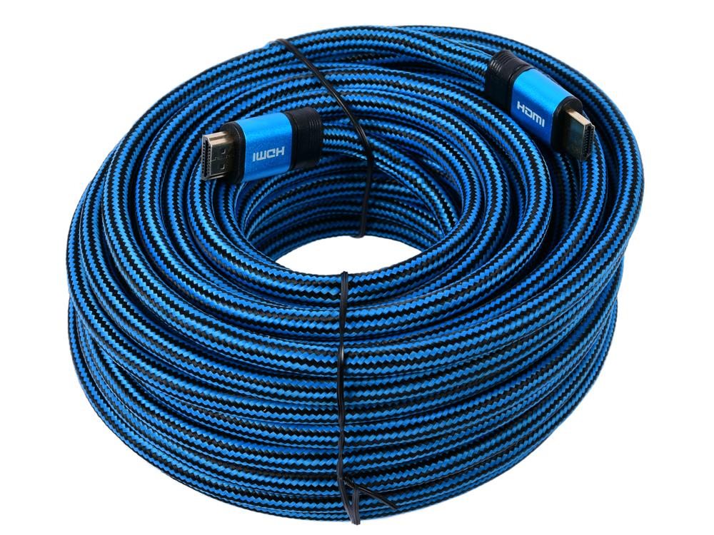Фото - Кабель HDMI Cablexpert, серия Gold, 15 м, v1.4, M/M, синий, позол.разъемы, алюминиевый корпус, нейлоновая оплетка, коробка корпус