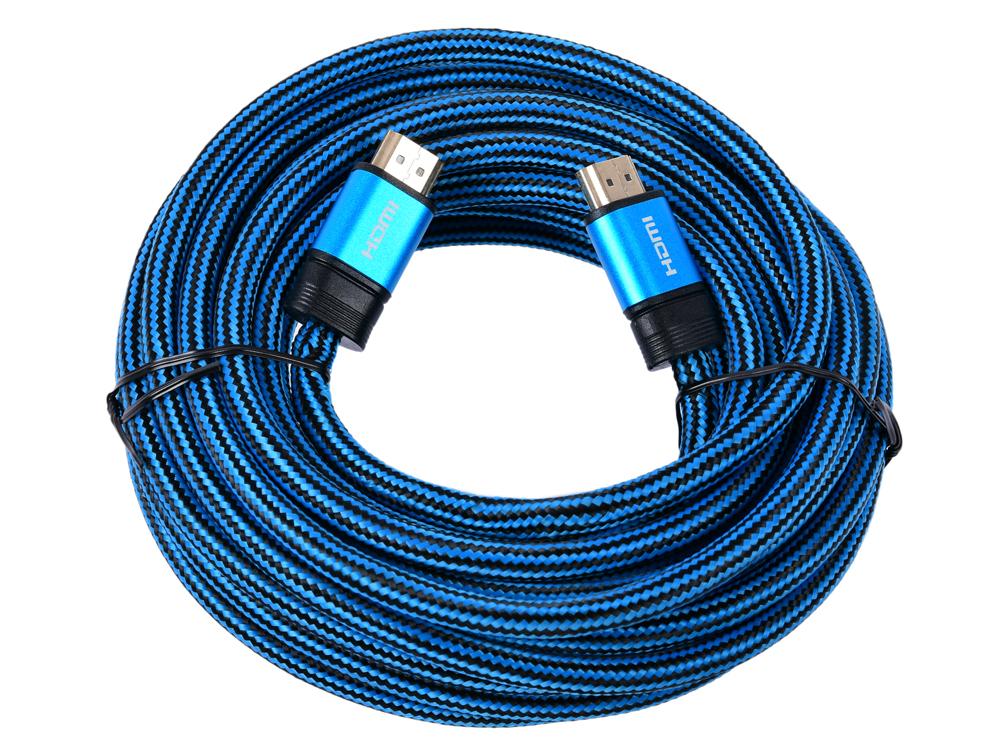 Фото - Кабель HDMI Cablexpert, серия Gold, 7,5 м, v1.4, M/M, синий, позол.разъемы, алюминиевый корпус, нейлоновая оплетка, коробка корпус