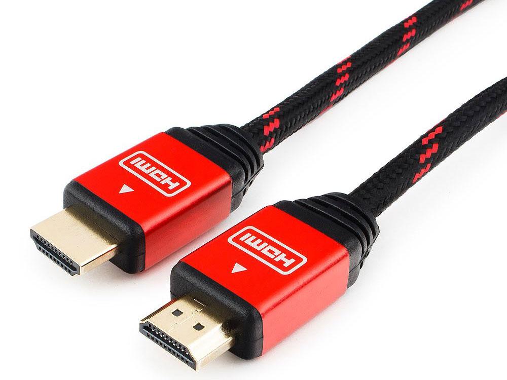 Кабель HDMI Cablexpert, серия Gold, 10 м, v1.4, M/M, красный, позол.разъемы, алюминиевый корпус, нейлоновая оплетка, коробка аксессуар коробка spro mobile stocker size m