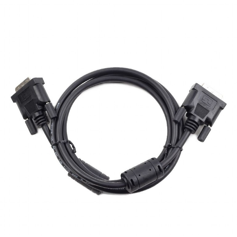 все цены на Кабель DVI-D single link Cablexpert CC-DVI-BK-10, 19M/19M, 3.0м, черный, экран, феррит.кольца, пакет онлайн