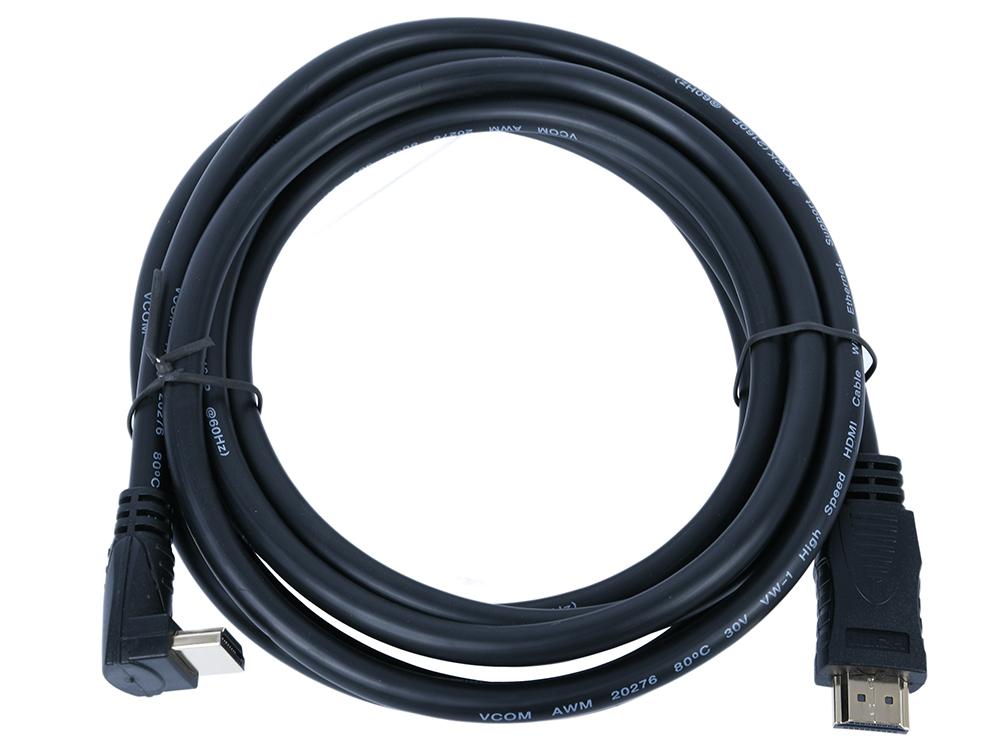 Фото - Кабель HDMI VCOM CG523-3M 3м, v2.0 Г-образный коннектор кабель