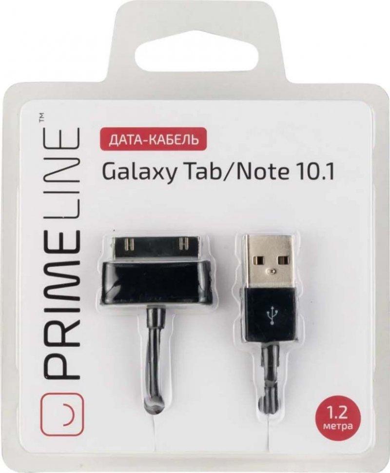 Фото - Кабель Prime Line 7204 для Galaxy Tab/Note 10.1, 1,2 м., черный средство iv san bernard caviar ring line luminance на основе икры для восстановление окраса шерсти животных 100 мл