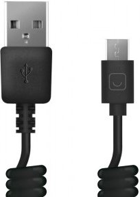 цена на Кабель Prime Line7209 USB-microUSB,1,5 м.,витой,черный