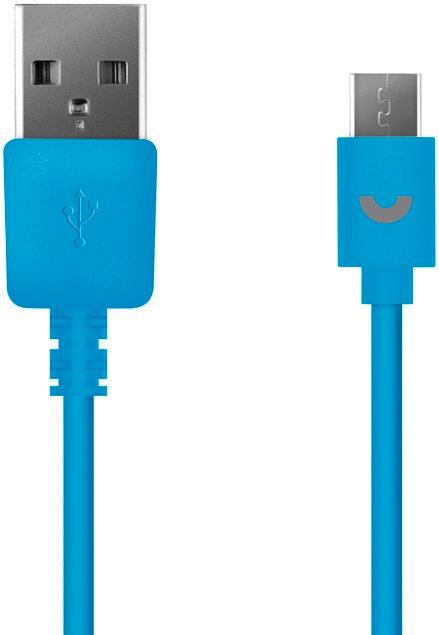 Кабель Prime Line 7218 USB - micro USB, 1,2 м., синий