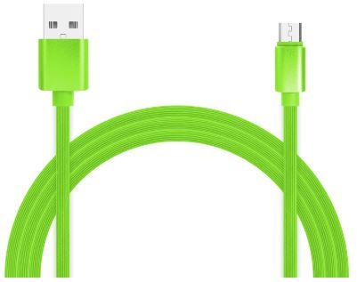 Фото - Кабель для зарядки и передачи данных Jet.A JA-DC24 1м зелёный (TPE,USB2.0/micro USB, QC 3.0, 2A) albert schweitzer kultuur ja eetika