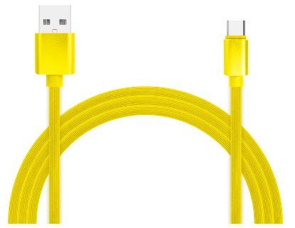 Фото - Кабель для зарядки и передачи данных Jet.A JA-DC34 1м жёлтый (TPE, USB2.0/USB Type C, QC 3.0, 2A) casio aeq 100w 2a