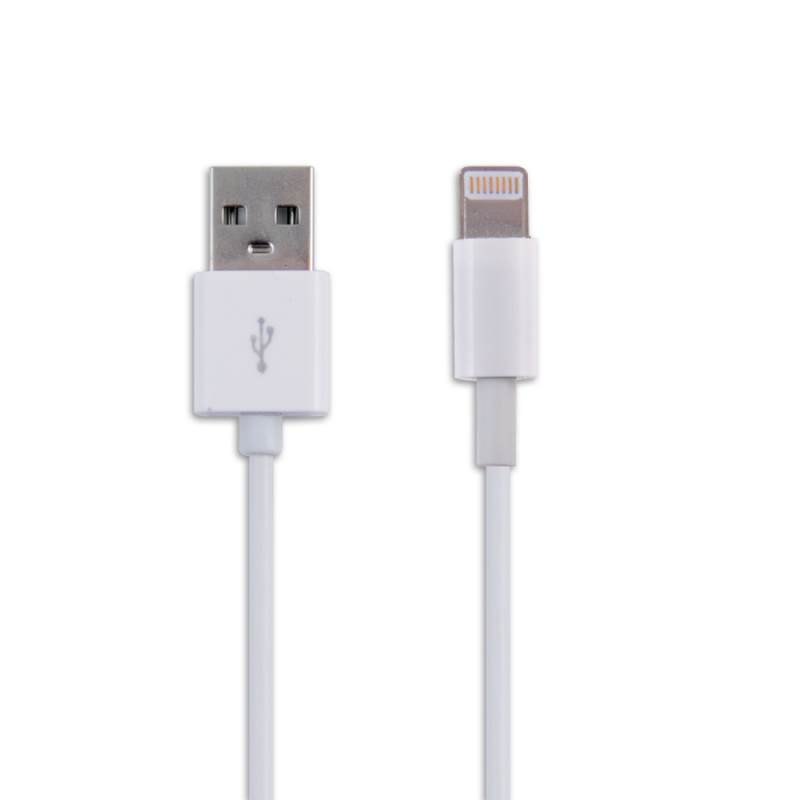 Кабель Belsis SP3137 Lightning - USB А, белый, 1м кабель cactus cs acsc08 usb lightning 1м серебристый