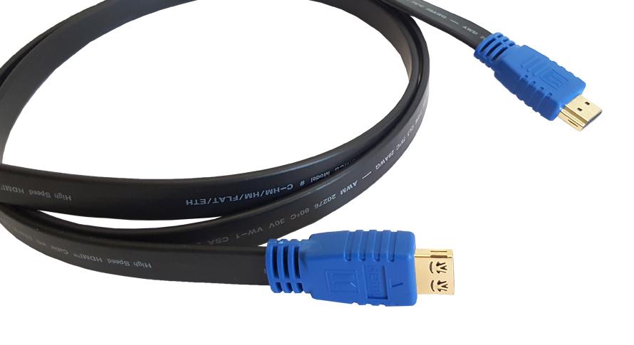Кабель HDMI Kramer C-HM/HM/FLAT/ETH-25, 7.6 м