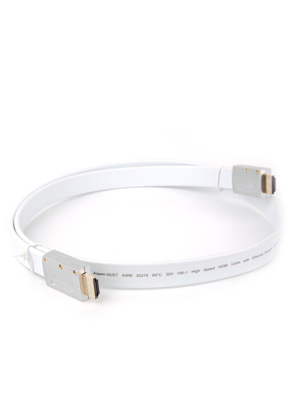 Фото - Кабель HDMI AOpen ACG568F-S-1M, ver 2.0, 1 м, серебряно-белый Flat кеды мужские vans ua sk8 mid цвет белый va3wm3vp3 размер 9 5 43
