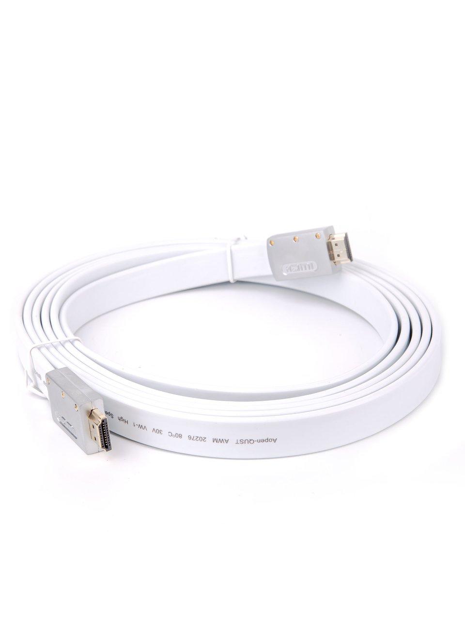 Фото - Кабель HDMI AOpen ACG568F-S-3M, ver 2.0, 3 м, серебряно-белый Flat printio ver thik her ek kom берегись я иду