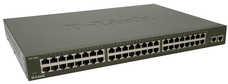 Коммутатор D-Link DES-1050G/C1A шлюз d link dvg 6004s